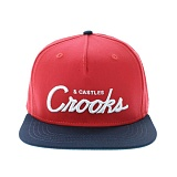 [크룩스앤캐슬]Crooks and Castles TEAM CROOKS SNAPBACK TRUE RED-NAVY 스냅백