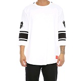 [크룩스앤캐슬]Crooks and Castles 3/4 SLV FOOTBALL JERSEY TOECUTTER WHITE 7부티셔츠 긴팔티