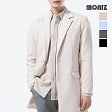 [모니즈] MONIZ  스판 무지 하프 코트 CTM201
