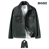 [모니즈] MONIZ  심플 그레이 청자켓 JKD047