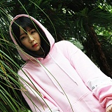 [어메이드] amade Compound Over Fit Hood Tee Light Pink 후드 후디 후드티
