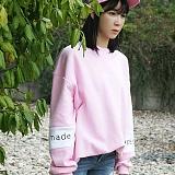 [블프특가][어메이드] amade Compound Over Fit Box Tee Light Pink 맨투맨 크루넥 스��셔츠