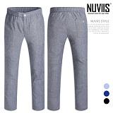[뉴비스] NUVIIS - 세로줄 밴딩 단추 팬츠 (WS062LPN)