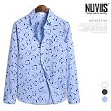 뉴비스 - 스퀘어링 긴팔 셔츠 (MS052SH)