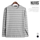 뉴비스 - 라이언 스트라이프 데끼 긴팔 티셔츠 (SP060TS)