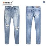 [탑보이] TOPBOY - 소프트 데미지 데님팬츠 (HD098) 청바지