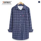 [탑보이] TOPBOY - 오버핏 커팅 긴팔셔츠 (ZT109)