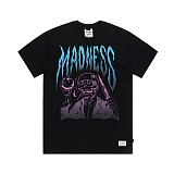STIGMA - MADNESS T-SHIRTS BLACK 반팔티셔츠 라운드넥