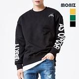 [모니즈] MONIZ  레터링 레이어드 맨투맨 MTM281