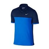 나이키 맨즈 클래식 카라 반팔 티셔츠 725527 410 블루/네이비 남녀공용 NIKE