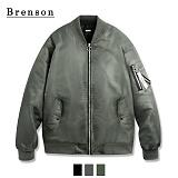 [Brenson]브렌슨 - 오버핏 셔링 MA-1 스트랩 자켓