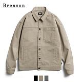 [Brenson]브렌슨 - 가먼트워싱 코튼 트러커 자켓