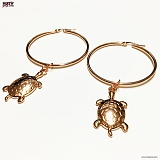 SEXTO - [써지컬스틸][귀걸이]G-TYPE 005 ROSE GOLD