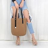 [모노노] MONONO - Unbalance Eco Bag - Wax Canvas Camel 캔버스 에코백 숄더백