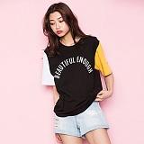 [모티브스트릿] MOTIVESTREET - COLOR BLOCK BLACK 반팔티 티셔츠