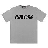 [PilBOSS] 필보스 17 S/S STANDARD LOGO 반팔티셔츠 회색 P298