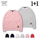 [로로팝] ★1+1★ MINI JJURI OVER FIT MTM 오버핏 맨투맨 크루넥 스��셔츠