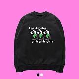 [superlative] 슈퍼레이티브 [7SMH20] GIRLS GIRLS GIRLS 기모 맨투맨 - 맨투맨 - 2컬러