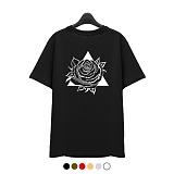 [superlative] 슈퍼레이티브 [SST187] 트라이앵글 로즈 반팔 티셔츠 - 반팔 티셔츠 - 6컬러