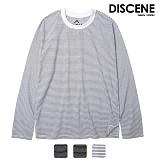[DISCENE]디씬 얇은 스트라이프 긴팔 티셔츠 3컬러
