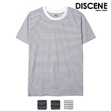 [DISCENE]디씬 얇은 스트라이프 반팔 티셔츠 3컬러
