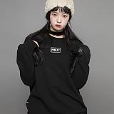 [엠에스유엘]MSUL-로고와펜 맨투맨 가로형(블랙) 크루넥 스��셔츠