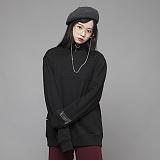 [엠에스유엘]MSUL-불박 입체로고 맨투맨 티셔츠 (블랙) 크루넥 스��셔츠