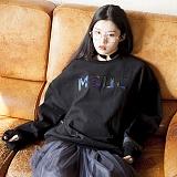 [엠에스유엘]MSUL-홀로그램 로고 스웨트 셔츠 (블랙) 크루넥 맨투맨
