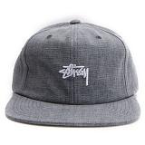 [스투시] STUSSY COATED LINEN STRAPBACK CAP (NAVY) [131680-NAVY]