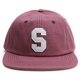 [스투시] STUSSY FELT S CANVAS STRAPBACK CAP (RED) [131678-REDD]