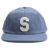 [스투시] STUSSY FELT S CANVAS STRAPBACK CAP (BLUE) [131678-BLUE]