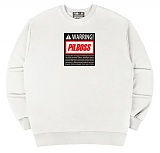 [PilBOSS] 필보스 17 S/S WARRING CENTER LOGO BLACK 맨투맨 흰색 P459