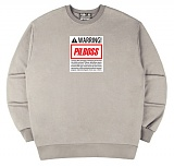 [PilBOSS] 필보스 17 S/S WARRING CENTER LOGO WHITE 맨투맨 회색 P471