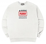 [PilBOSS] 필보스 17 S/S WARRING CENTER LOGO WHITE 맨투맨 흰색 P475