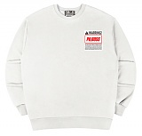 [PilBOSS] 필보스 17 S/S WARRING SMALL LOGO WHITE 맨투맨 흰색 P491