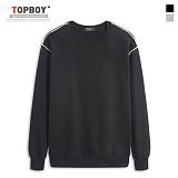 탑보이 - 라인 맨투맨 티셔츠 (HT004) 맨투맨