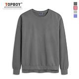 탑보이 - 워싱 구제 맨투맨 티셔츠 (BS001) 맨투맨