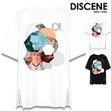 [DISCENE] 디씬 올가미 옆지퍼 오버핏 반팔티셔츠 2컬러