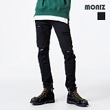 [모니즈] MONIZ  밴딩 디스트로이드 면바지 PCT091