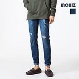 [모니즈] MONIZ  밴딩 워싱 데미지 청바지 PDN261