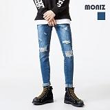 [모니즈] MONIZ  데미지 워싱 디스 청바지 PDN265