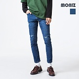 [모니즈] MONIZ  컷팅 디스 청바지 PDN266