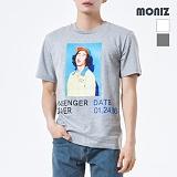 [모니즈] MONIZ 러버 프린팅 반팔 티셔츠 TSB017
