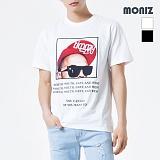 [모니즈] MONIZ 선글라스 프린팅 반팔 티셔츠 TSB016