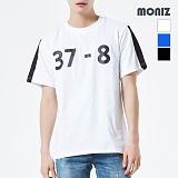 [모니즈] MONIZ 배색 반팔 티셔츠 TSB011