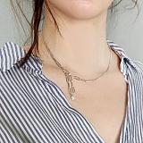 [러쉬오프] RUSHOFF Unique Charming Silver Necklace - Pearl / 유니크 챠밍 실버 목걸이 - 진주