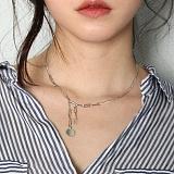 [러쉬오프] RUSHOFF Unique Charming Silver Necklace - Round Pandant / 유니크 챠밍 실버 목걸이 - 라운트펜던트