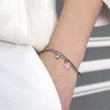 [러쉬오프] RUSHOFF LoveLove Surgical Silver Chain Bracelet / 러브러브 써지컬 실버 체인팔찌