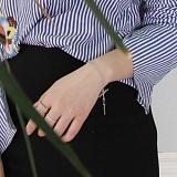 [러쉬오프] RUSHOFF Tickling Silver  Chain Bracelet / 티클링 실버 체인팔찌