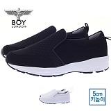 [보이런던] boylondon 남성 캐주얼 와플 컴포트 5cm 키높이 슬립온(블랙)628-엠씨 남자 신발 단화 로우